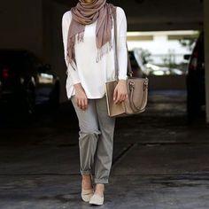 20 Magnifiques Styles de Hijab Aux Couleurs de Printemps ! Inspirez Vous !! - astuces hijab