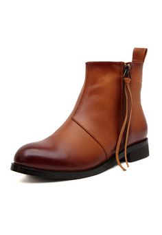 #MYTRENDTWOWARDROBE Brown Polished Ankle Boots with Tassel Zip these boots were made from A/W walking!