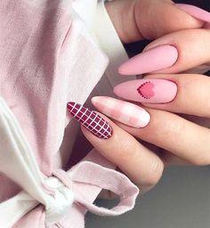 Nail Art Saint-valentin, Pink Nail Art, Cool Nail Art, Pink Nails, Heart Nail Designs, Valentine's Day Nail Designs, Acrylic Nail Designs, Acrylic Nails, Nails Design