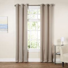 When you need a few extra hours of uninterrupted shut-eye on a Sunday morning, all you have to do is close the curtains! With its thermal blackout design, this clean-lined curtain is perfect lining any window. Its solid hue and sleek silver grommets keep it classic, but you can effortlessly liven it up by rolling out a colorful patterned rug on the floor below and using polished pendants to shine a bright light overhead. Getting friends together for a festive fete? Use a pair of these…