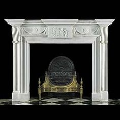Exceptional range of Georgian, Neo-Classical, Adam & Palladian fireplace surrounds, mantels and chimneypieces. Marble Fireplace Mantel, Fireplace Grate, Cast Iron Fireplace, Marble Fireplaces, Cozy Fireplace, Fireplace Surrounds, Fireplace Mantels, Fireplace Ideas, White Fire Surround