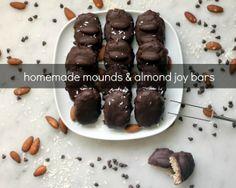 homemade mounds and almond joy bars
