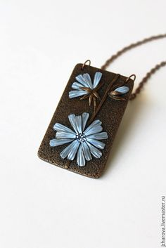 Polymer clay rectangular pendant ideas