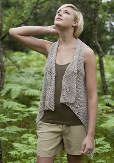 Seabrook Waistcoat in Berroco Captiva Aran. Discover more Patterns by Berroco at LoveKnitting. The world's largest range of knitting supplies - we stock patterns, yarn, needles and books from all of your favourite brands. Aran Knitting Patterns, Knit Vest Pattern, Knitting Stitches, Knitting Yarn, Knit Patterns, Free Knitting, Crochet Pattern, Simple Knitting, Knitting Accessories