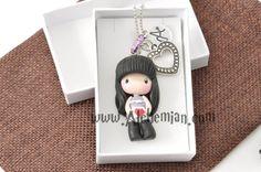 Gorjuss character necklace handmade handmolded in by AlchemianShop, €29.90