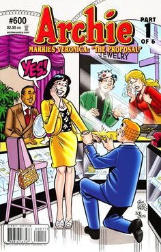 Archie Vol 1 Issue 600 - Archie Marries Veronice Part 1: The Proposal #ComicBookWeddings