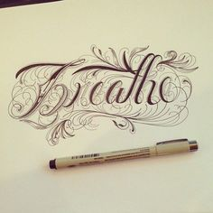 Hand Type Vol. 5 by Raul Alejandro , via Behance – Love the filigree of this font