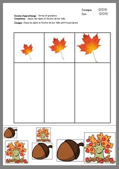 Fall Preschool Activities, Kindergarten Math Worksheets, Toddler Learning Activities, Homeschool Kindergarten, Montessori Activities, Preschool Math, Tree Study, Toddler School, Autumn Theme