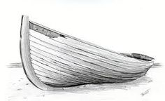 Boats drawing the beach 60 Ideas Wave Drawing, Boat Drawing, Painting & Drawing, Boat Painting, 3d Drawings, Drawing Sketches, Pencil Drawings, Drawing Lessons, Drawing Techniques