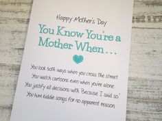 Put a smile on Moms face with one of our funny Mothers Day cards. Maybe it will make her forget all the crap you put her through--or not!