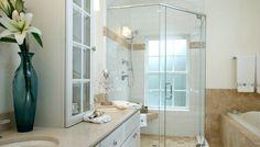 Bathroom design - feminine bathroom ideas ikea : bathroom ideas at Small Bathroom With Shower, Glass Bathroom, Glass Shower, White Bathroom, Modern Bathroom, Bathroom Showers, Shower Door, Beautiful Small Bathrooms, Amazing Bathrooms