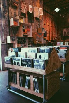 Inside a French record store