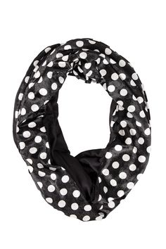Black and White Lulu Infinity Scarf - ash&dans