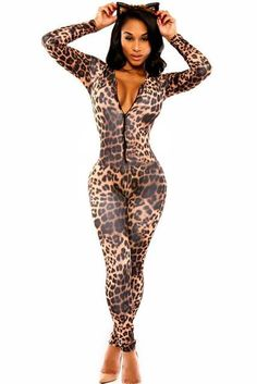 6ba0c2a218 Fashion Kitten Club Catsuit rompers womens jumpsuit overalls playsuits