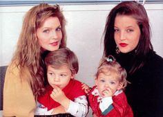 Priscilla with Navarone and Lisa Marie with Riley.