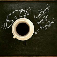 """#Café * #Coffee ☆ ♥ * Wake Up! = Acorde!  * Rise and Shine! = Erque-se e Levante- se!  """" Desenho em 3D """""""
