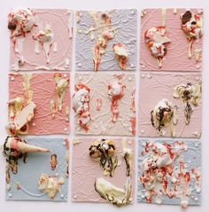These ceramic bas-relief panels could be an idea for your own work. What would you substitute the ice cream with to make it personal and unique? How many in your series? What scale size and shape? Ice Cream Art, Textiles Techniques, Gcse Art, Mixed Media Artists, Summer Art, Frozen Treats, Art Pages, Vintage Photography, Artist At Work