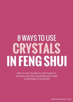 Crystals work as amazing cures for feng shui ailments. Check out 8 ways to use crystals in your home to help enhance your home's feng shui | Rogue Wood Supply