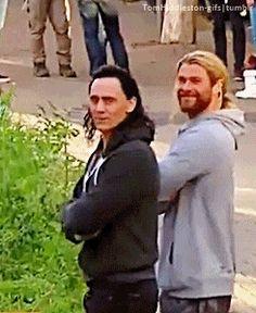 Tom and Chris on set.....