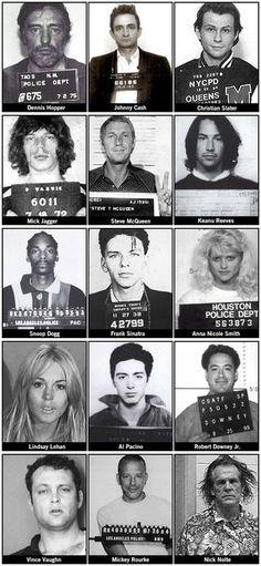 Famous mugshots