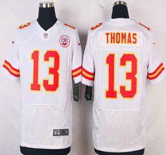 Kansas City Chiefs Jersey 13 De'Anthony Thomas White Road NFL Nike Elite Jerseys