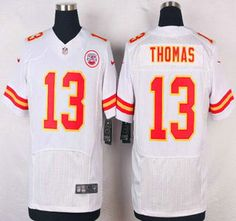 Kansas City Chiefs Jersey 13 De'Anthony Thomas White Road NFL Nike Elite Jerseys