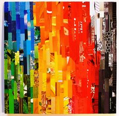 Hello Tomorrow - recycled mixed media collage by Rosemary Pierce-Lackey by Rosemary Pierce-Lackey, via Flickr