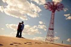 Katie & Dan | Coney Island, New York City Engagement Shoot » NYC Wedding Photography Blog