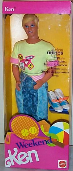 "Oh, Ken® b*tch, now I get why gay porn stars use always hi top sneakers, you were the pioneer! Fashion and porn lovers like me appreciate it.  ""Weekend Ken®"" foreign version of ""All American Ken®""  MATTEL.  1991.  D.R.  Image from MANBEHINDTHEDOLL.COM"