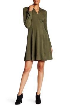 Long Sleeve Hooded Dress by Max Studio on @nordstrom_rack