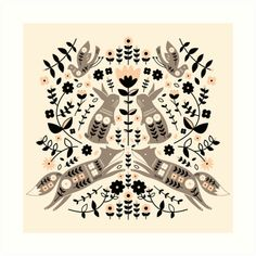 'Woodland Folklore ' Photographic Print by limegreenpalace Framed Prints, Canvas Prints, Art Prints, German Folk, Scandinavian Folk Art, Thing 1, Art Furniture, Folklore, Woodland