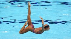 Egypt competes in the Women's Teams Synchronised Swimming Free Routine final #Olympics Olympics