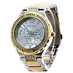 Alexis Fashion Women's Big Dial Gold Bracelet Watch Stainless Steel Crystal 36mm Water Resistant Watch for Women  #WaterResistantWatch #WaterResistantDigitalWatch  #ChronographWatch #DigitalWatch #BraceletWatch #StainlessSteelBand #StainlessSteelBandWatch #GoldBand #GoldBandWatch #AnalogQuartz #CeramicWaterResistant