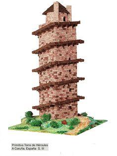 Primitiva Torre de Hércules pelo século III (La Coruña, España) / http://www.decorarconarte.com/epages/61552482.preview/es_ES/?ObjectPath=/Shops/61552482/Categories/%22Kits%20de%20maquetas%20construcci%C3%B3n%22