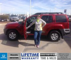 I saw a nice looking Nissan Xterra in the parking lot and stopped to look at it. Denny Henriquez helped us. He was very friendly and was willing to work with us. very good experience buying my first car. - Michelle Frost Saturday, February 15, 2014