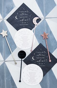 celestial themed tassels and tastemakers party. Your Something Blue Wedding Inspiration for your Wedding Day Galaxy Wedding, Moon Wedding, Celestial Wedding, Dream Wedding, Wedding Day, Chic Wedding, Blue Wedding, Wedding Decor, Space Wedding