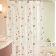 Waterproof Shower Curtain Bathroom Decor Peva Mold Proof Eco Friendly Endless Circle Curtains 180 X 180cm