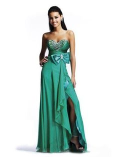 prom dresses prom dresses for teens prom dresses 2014 high low 2014 spring style a-line sweetheart bowknot sleeveless floor-length chiffon green prom dress/evening dress
