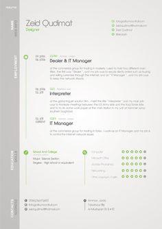 my resume by ~zeidroid on deviantART