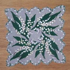 Vintage Lily of the Valley Handkerchief
