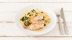 Hähnchenbrust mit Spinat-Pasta