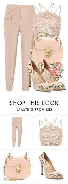 """""""Summer Lunch Date """" by mxlewi ❤ liked on Polyvore featuring TIBI, River Island, Chloé and Giambattista Valli"""