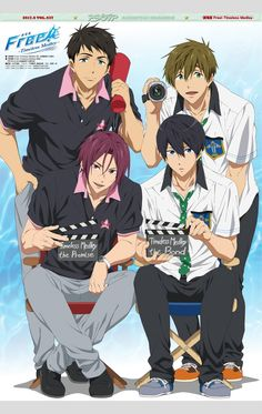 Makoto Tachibana, Sousuke Yamazaki, Haruka Nanase, and Rin Matsuoka from Free! Hot Anime Boy, Free Anime, Anime Kawaii, I Love Anime, Anime Shows, Anime Manga, Anime Guys, Free Manga, Rin Matsuoka