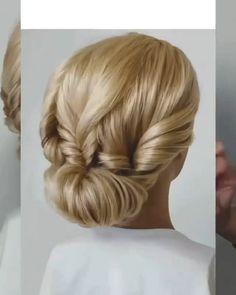 Hairdo For Long Hair, Bun Hairstyles For Long Hair, Braided Hairstyles, Wedding Hairstyles, Hair Upstyles, Bridal Hair And Makeup, Love Hair, Hair Videos, Hair Hacks