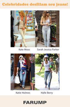 Fique de olho no jeans das celebridades! Inspire-se para montar seu look com muito estilo e versatilidade.