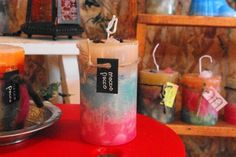 パステルトーンが可愛らしい雰囲気のキャンドルです。可愛らしい貴方に・・・size:wide6.5cm high11cm素材:パラフィンワックス無香料※香りをお...|ハンドメイド、手作り、手仕事品の通販・販売・購入ならCreema。