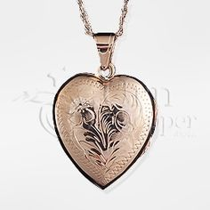 Lockets for Cremation Ashes | Heart Locket 14K Gold Cremation Jewelry Necklace
