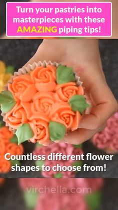 🍪Turn your pastries into creative masterpieces so Effortlessly with this floral piping set!🌷 ✅ Easy ✅ All in 1 ✅ Reusable & Durable Cake Decorating Techniques, Cake Decorating Tips, Cookie Decorating, Cake Cookies, Cupcake Cakes, Delish Cakes, Cupcake Videos, Cake Filling Recipes, Frosting Tips