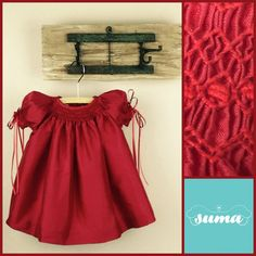 Red Christmas dress baby girl Sweet little by SUMACLOTHING on Etsy