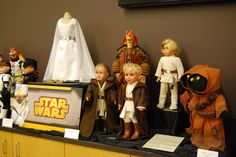 My Star Wars dolls on display for Mini ComicCon at the Vernon Area Public Library, 11/08/2014